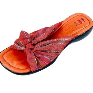 Art Effects Burnt Orange 8.5 Slip On Sandals NWOB